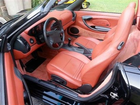 black porsche red interior purchase used 1998 porsche boxster convertible with rare