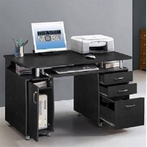 compact computer desk workstation home office storage