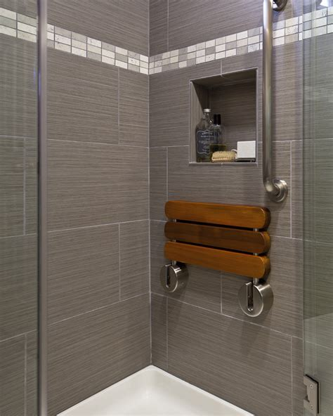 shower with bench seat folding shower seat bathroom contemporary with gray shower