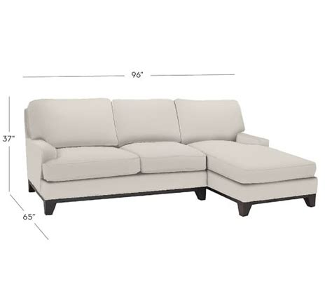 pottery barn chaise seabury upholstered sofa with chaise sectional pottery barn