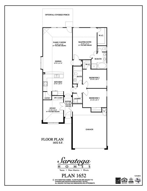 house floor plan sles plan 1652 saratoga homes houston