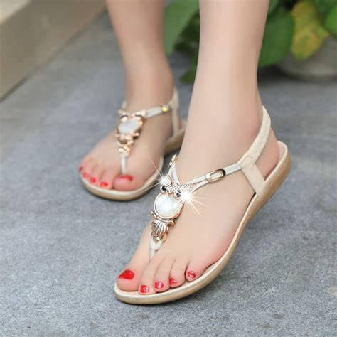 Best Quality Sandal Flat V49 2016 fashion high quality flat plus size sandals