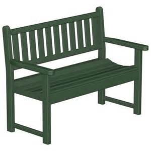 polywood 174 plastic traditional garden bench with arms 48 inches
