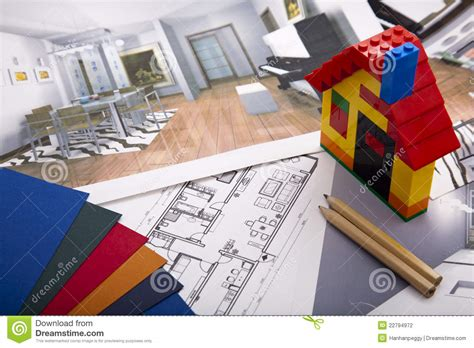 home improvement plan stock photography image 22794972