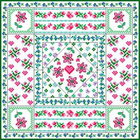 patchwork cushion cross stitch pattern quilts