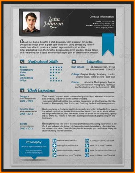 Creative Resume Template Word 4 Creative Cv Templates Free Microsoft Word Cashier Resumes