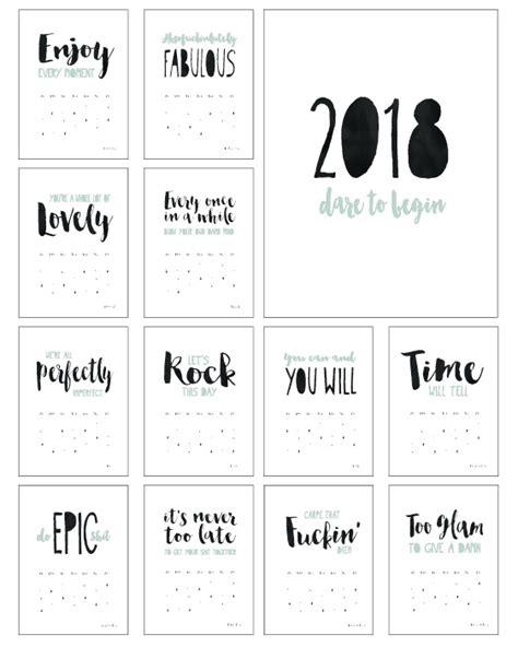 Calendar 2018 Quotes Kalender Quotes 2018 Zelf Je Kalender Maken
