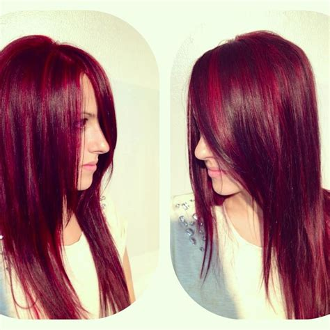 Matrix Hd Red Hair Color | matrix hd red violet colored hair transformation