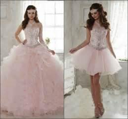light pink quinceanera dresses aliexpress buy 2015 light pink quinceanera dress gown sweetheart detachable ruffled