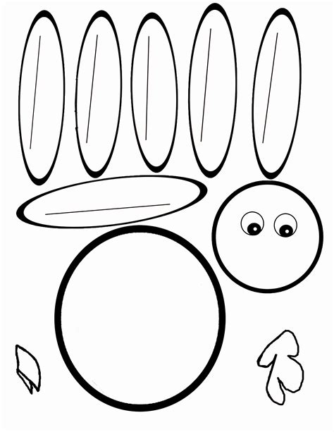 scissor cutting turkey template therapy fun zone