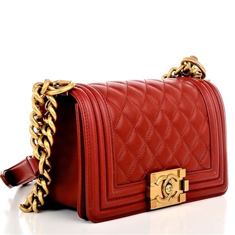 Chanel Boy Hardware Classic 2810 3 chanel small boy lambskin bag in with gold hardware world s best