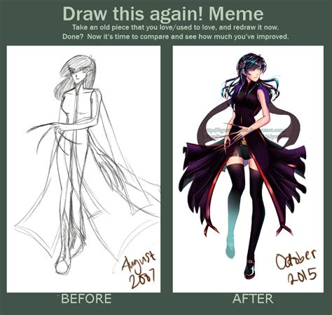Draw It Again Meme Template - contest draw this again meme by rialynkv on deviantart