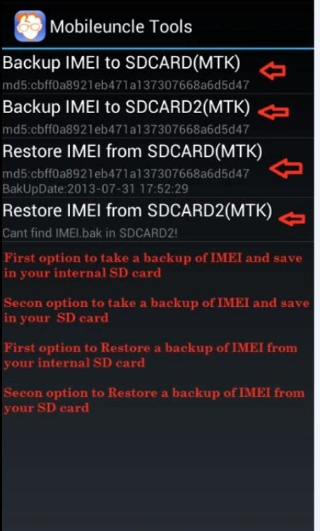 reset android number how to backup and restore imei number of android