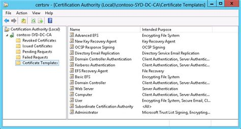 certificate authority templates certificate template subordinate certification authority