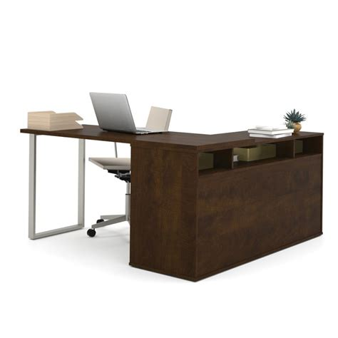 bestar l shaped desk bestar solay l shaped desk in chocolate 29420 69