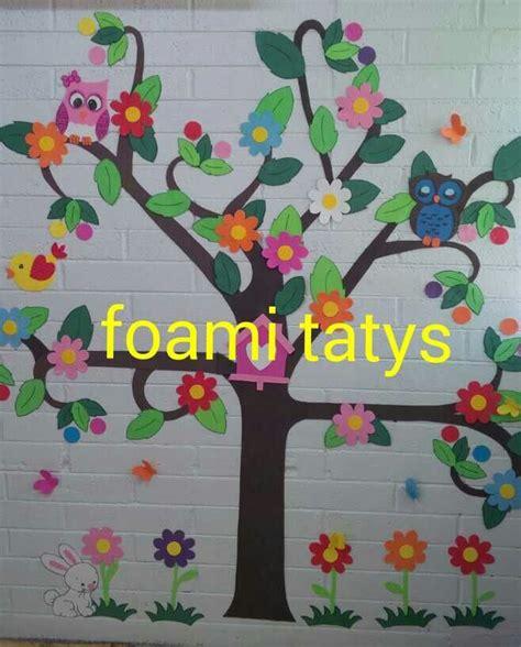 como decorar un salon de selva arbol decoracion biblioteca salon de clases varios