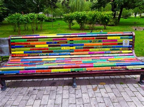 colorful bench art expression the effect of beautification on a community