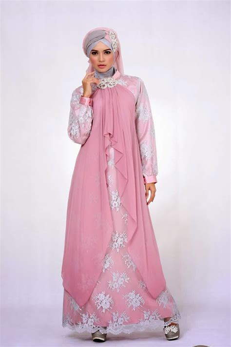 Baju Gamis 9 20 contoh baju gamis muslim brokat terbaru 2018