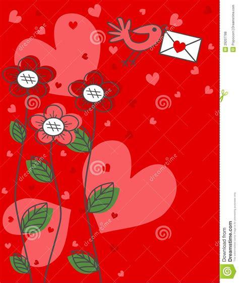 valentines birthday valentines day or birthday greeting royalty free stock