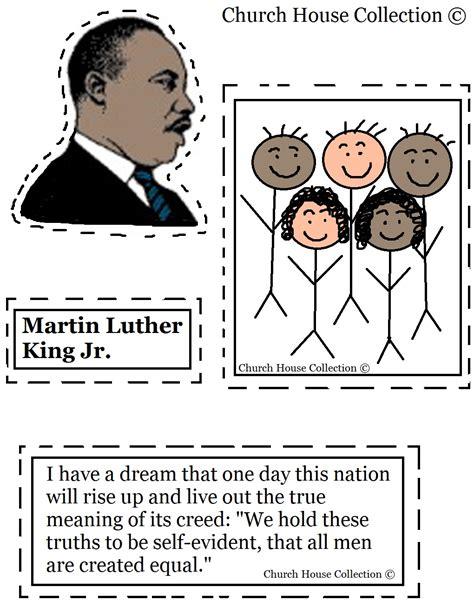 Martin Luther King Jr Craft Cutout Activity Martin Luther King Coloring Pages For Kindergarten