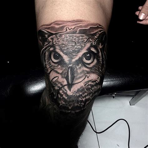 owl tattoo knee 100 awesome tattoos for guys manly ink design ideas