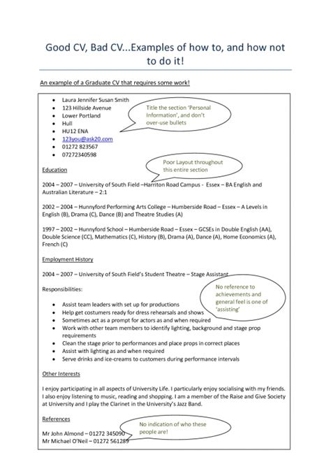 Exles Of A Bad Resume by Printable Exles Of Bad Resumes 28 Images Exles Of Bad Resumes Template Resume Builder 1000