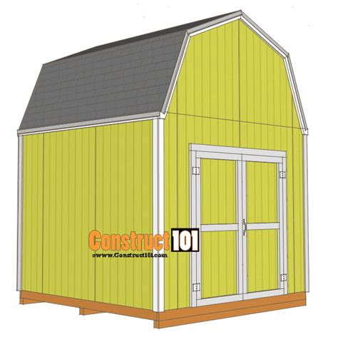 shed plans gambrel shed construct