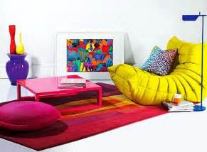colorful furniture bright area rugs add a pop of color