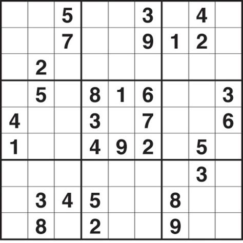 8 best images of printable sudoku with answers free