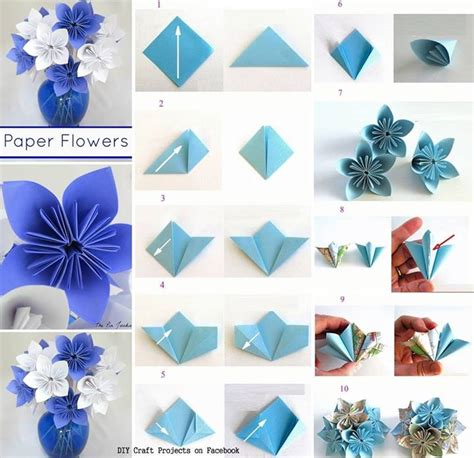 How Do You Make Origami Flowers - tutorial de c 243 mo hacer flores en origami paso a paso
