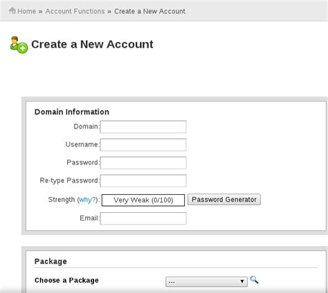 design home new account how to create a new account in cpanel