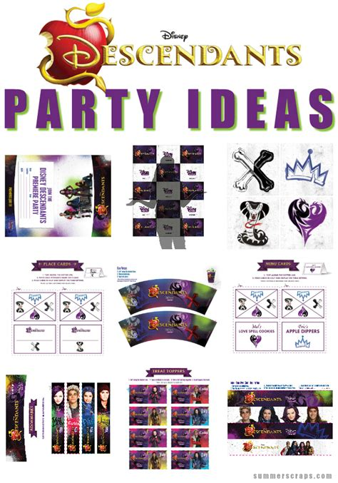 disney descendants party ideas food crafts and family disney descendants party ideas food crafts and family