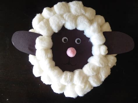 Paper Plate Sheep Craft - crafts