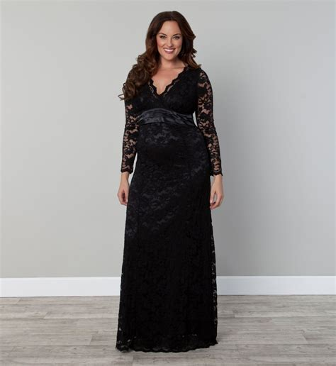 Plus Find Plus Size Black Lace Dress With Sleeves Dresses