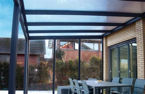 Terrassendach Alu Glas by Aluminium Glaswand Glaselement Seitenwand F 252 R