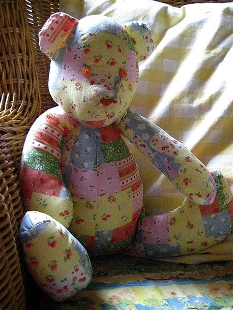 How To Make A Patchwork Teddy - patchwork teddy so keepsakes