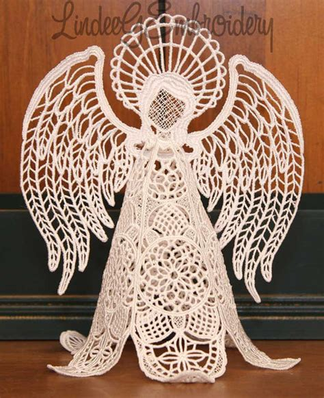 embroidery design lace free machine embroidery design free standing lace heirloom angel