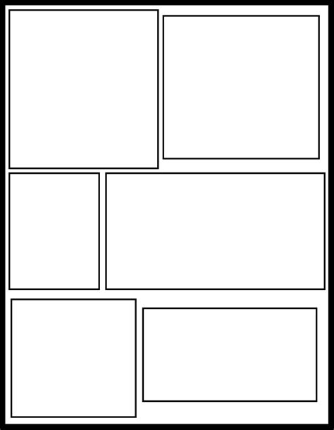 comic panel template image gallery templates