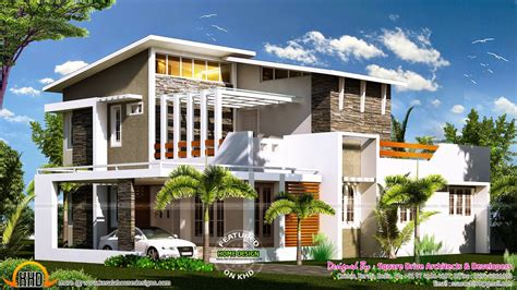 house plans contemporary modern 2000 sq ft modern contemporary house plan kerala home
