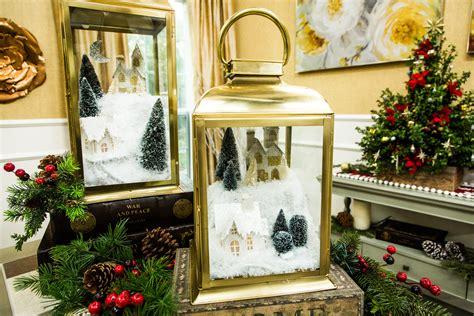 diy lantern snow village home family