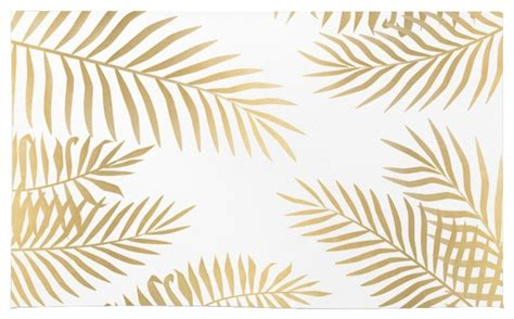 Society6 gold palm leaves rug tropical area rugs by society6