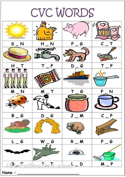 5 Letter Words A In The Middle printable cvc worksheets for kindergarten kindergarten