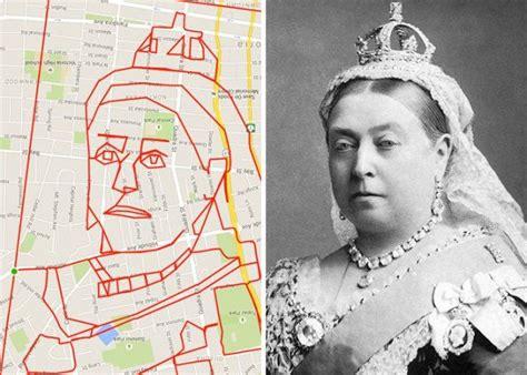 foto menggambar seni  gps  google maps
