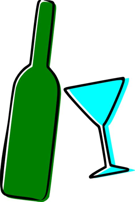 Wine bottle and martini glass clip art vector clip art online
