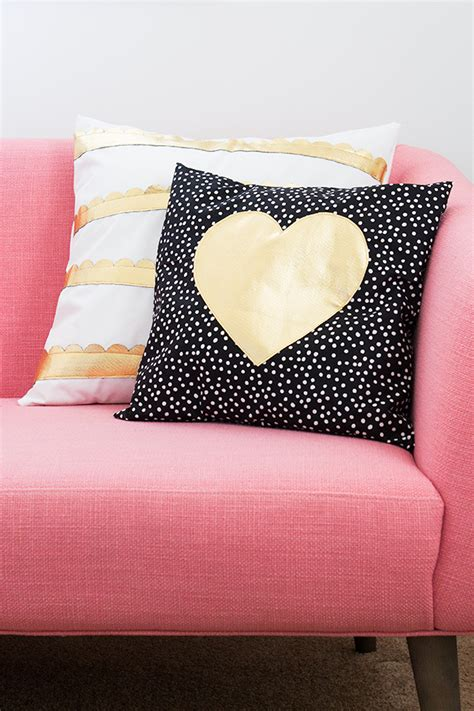 Pillows And Pillows by Gold And Scalloped Diy Pillows Hearts