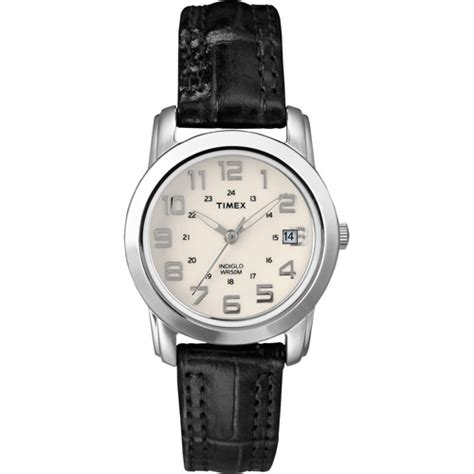 timex s sport chic black leather