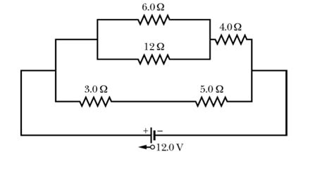 resistor circuit problems and solutions a circuit containing five resistors and a 12 0 v i chegg