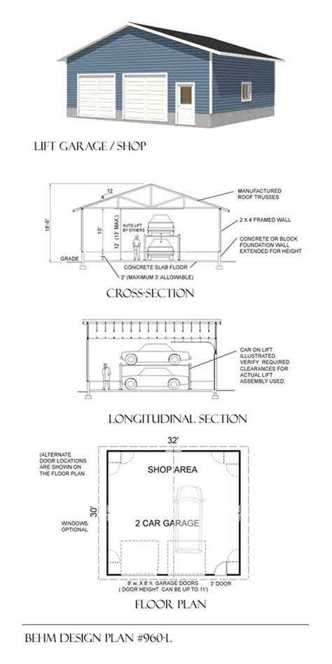 plan 009g 0005 garage plans and garage blue prints from 12 best car lift or auto lift garage plans images on