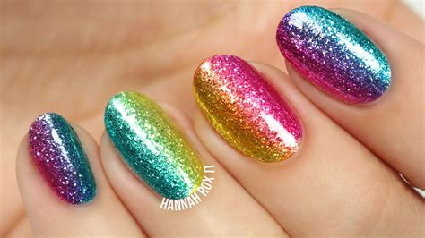 Glitter Nail by Easy Rainbow Glitter Nails