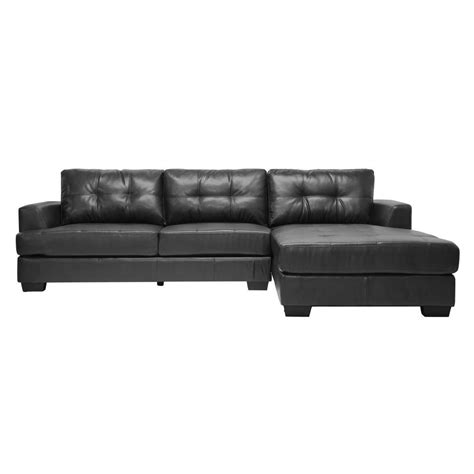 baxton studio leather sofa baxton studio dobson contemporary black bonded leather